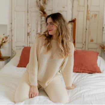 Abbigliamento Donna Maglioni Céleste COMETE Ecru