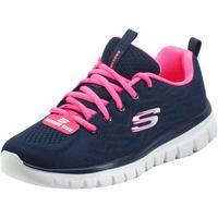 Scarpe Donna Fitness / Training Skechers 12615 Graceful Get Connected Navy Scarpe Sportive Donn Navy