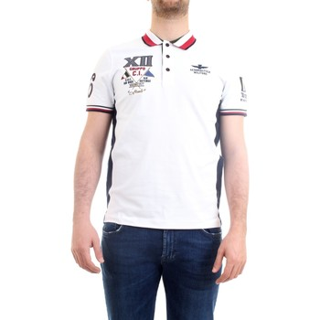 Abbigliamento Uomo Polo maniche corte Aeronautica Militare 211PO1557P199 Polo Uomo Bianco Bianco