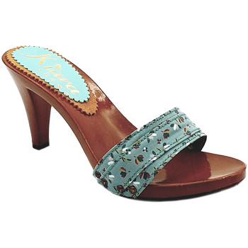 Scarpe Donna Ciabatte Kiara Shoes K6701 Turchese