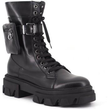 Scarpe Donna Stivaletti Aria Shoes Stivale C 5 Nero Nero