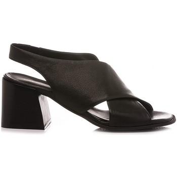 Scarpe Donna Sandali Mat:20 Sandali Donna Pelle Nero 6501 nero