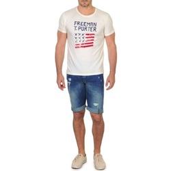 Abbigliamento Uomo Shorts / Bermuda Freeman T.Porter DADECI SHORT DENIM Blu