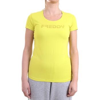 Abbigliamento Donna T-shirt maniche corte Freddy S1WBCT1 T-Shirt Donna Giallo Giallo