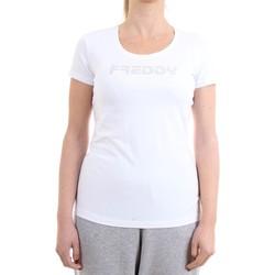 Abbigliamento Donna T-shirt maniche corte Freddy S1WBCT1 T-Shirt Donna bianco bianco