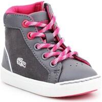 Scarpe Unisex bambino Sneakers alte Lacoste Explorateur Grigio