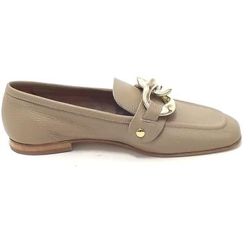 Scarpe Donna Mocassini Illuminal scarpe donna mocassini pelle beige Mina