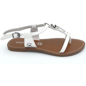 Scarpe Donna Sandali Chattawak Sandale 11-ZHOE Blanc Bianco