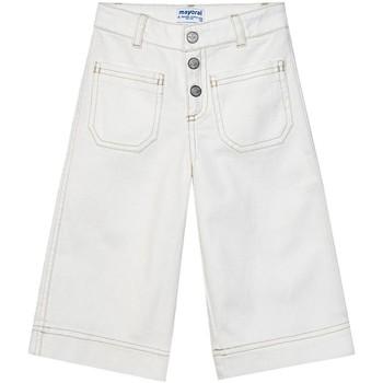 Abbigliamento Bambina Pantaloni Mayoral  Blanco