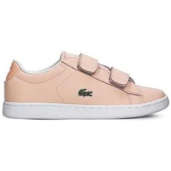 Scarpe Bambina Sneakers basse Lacoste Carnaby Evo Strap Rosa