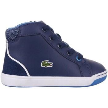 Scarpe Bambino Sneakers alte Lacoste Explorateur Lace Blu marino