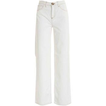 Abbigliamento Donna Pantaloni morbidi / Pantaloni alla zuava Lautrechose PANTALONE PALAZZO BIANCO CON IMPUNTURE  B2560487035 BIANCO