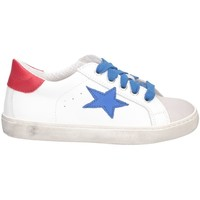 Scarpe Bambina Sneakers basse Dianetti Made In Italy I9869 BIANCO/ROSSO