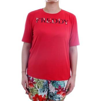Abbigliamento Donna T-shirt maniche corte Freddy S1WSLT5 T-Shirt Donna rosso rosso