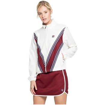 Abbigliamento Donna T-shirts a maniche lunghe Fila Felpa  Wan Track Donna Bianco Bianco