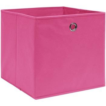 Casa Cestini, scatole e cestini Vidaxl Scatole 10 pz Rosa 32x32x32 cm in Tessuto Rosa