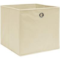Casa Cestini, scatole e cestini Vidaxl Scatole 4 pz Crema 32x32x32 cm in Tessuto crema