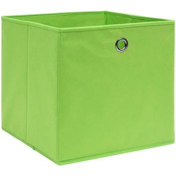 Casa Cestini, scatole e cestini Vidaxl Scatole 10 pz Verdi 32x32x32 cm in Tessuto Verde