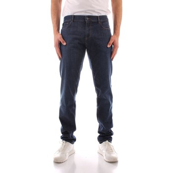 Abbigliamento Uomo Jeans dritti Trussardi 52J00000 1Y000149 BLU