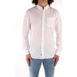 Abbigliamento Uomo Camicie maniche lunghe Blauer 21SBLUS01223 BIANCO
