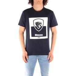 Abbigliamento Uomo T-shirt maniche corte Blauer 21SBLUH02131 BLU