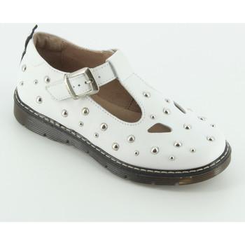 Scarpe Bambina Ballerine Twin Set GJ130 sandalo due occhi Bianco