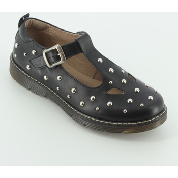 Scarpe Bambina Ballerine Twin Set GJ130 sandalo due occhi Nero