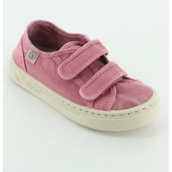 Scarpe Bambina Sneakers Natural World 6471E sneaker tessuto velcro Rosa