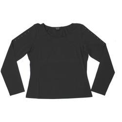 Abbigliamento Donna T-shirts a maniche lunghe Diana Gallesi ATRMPN-25475 Nero