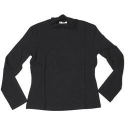 Abbigliamento Donna T-shirts a maniche lunghe Lineaemme ATRMPN-25486 Nero
