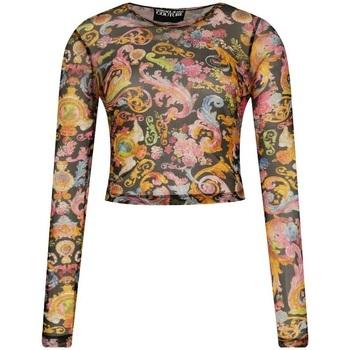 Abbigliamento Donna T-shirts a maniche lunghe Versace B2HWA706S0094-899 Nero