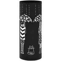 Casa Bauli, scatole di immagazzinaggio VidaXL Porta ombrelli Nero