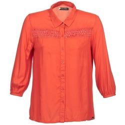 Abbigliamento Donna Camicie maniche lunghe Volcom KNOTTY Rosso
