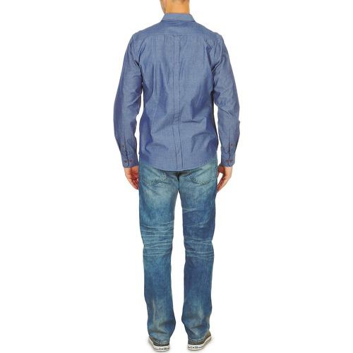 Lunghe Sherman Ben Maniche Bema00490 Blu Camicie kiPXZuO
