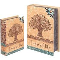 Casa Cestini, scatole e cestini Signes Grimalt Scatole Per Libri 2U Tree Life Naranja