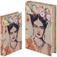 Casa Bauli, scatole di immagazzinaggio Signes Grimalt Libro Scatole Set Del 2 Settembre 2U Naranja
