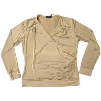 Abbigliamento Donna T-shirts a maniche lunghe Diana Gallesi ATRMPN-25504 Beige