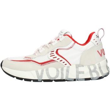 Scarpe Uomo Sneakers basse Voile Blanche 001201592601 Bianco e rosso