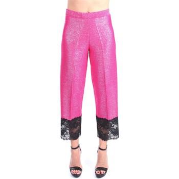Abbigliamento Donna Pantaloni 5 tasche Circus Hotel S1/H1SP04 Cropped Donna Shocking pink Shocking pink