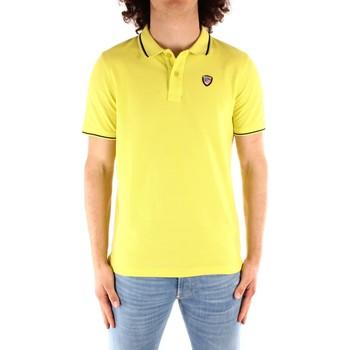 Abbigliamento Uomo Polo maniche corte Blauer 21SBLUT02272 GIALLO
