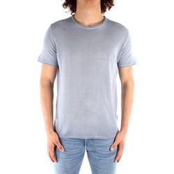 Abbigliamento Uomo T-shirt maniche corte Blauer 21SBLUM01319 CELESTE
