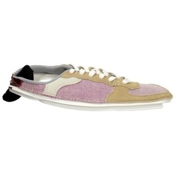 Scarpe Donna Sneakers basse Acbc Tomaia in tessuto e camoscio Camel Marrone