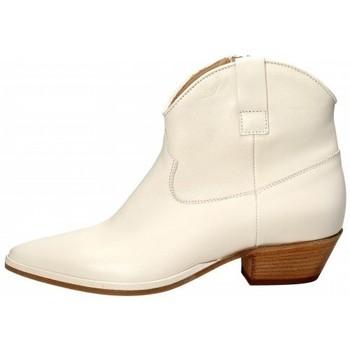 Scarpe Donna Tronchetti Lemaré Lemaré Texano in pelle Bianco Bianco