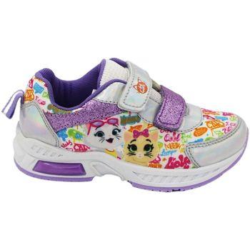 Scarpe Bambina Sneakers basse 44 Gatti Sneakers Multicolore