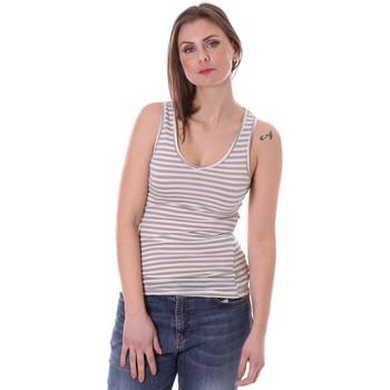 Abbigliamento Donna Top / T-shirt senza maniche Vicolo FK0013 Grigio