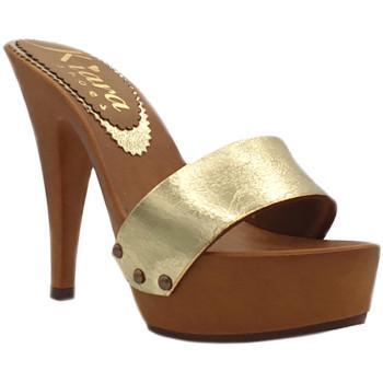 Scarpe Donna Ciabatte Kiara Shoes K9302 Oro