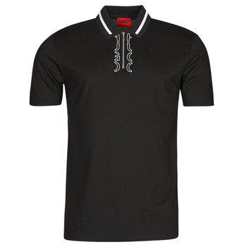 Abbigliamento Uomo Polo maniche corte HUGO DOLMAR Nero / Bianco