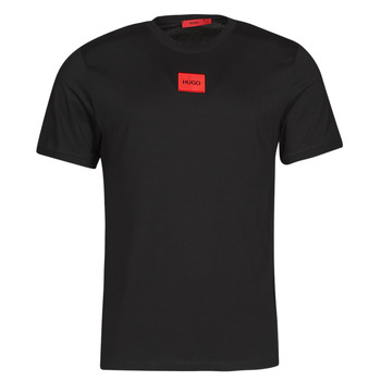 Abbigliamento Uomo T-shirt maniche corte HUGO DIRAGOLINO Nero / Rosso