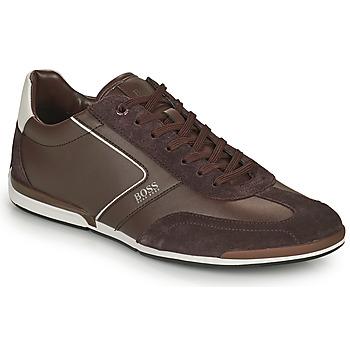 Scarpe Uomo Sneakers basse BOSS Saturn_Lowp_ltal Marrone