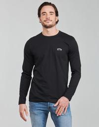 Abbigliamento Uomo T-shirts a maniche lunghe BOSS TOGN CURVED Nero